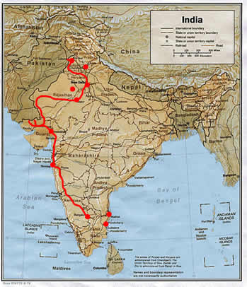Map Of India And Pakistan Border.Map Of India Our Journey